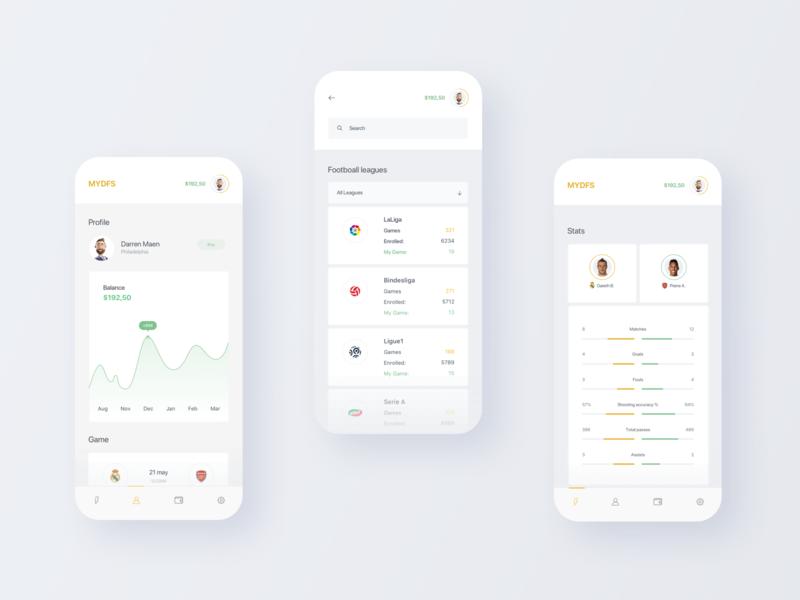 First sports platform powered by blockchain ios uiux app football efirmedia ui design ux agency design ui digital minimal clean