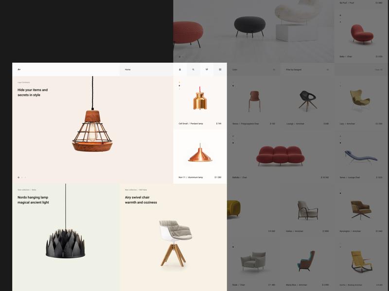 A+ eCommerce design concept ui design minimalist agency ux ui digital minimal clean