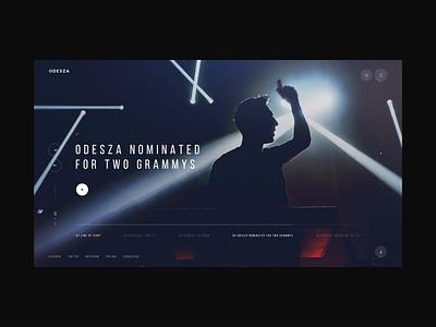 Odesza Redesign Concept concept design redesign webdesign design animation motion minimalist ui design ux ui digital minimal clean