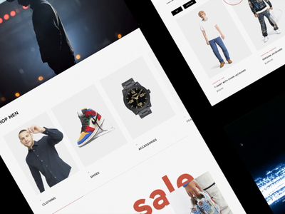 E-commerce: UX/UI design for Multi-brand online store 🔥 fashion footwear shoes webdesign website design animation clothing luxury shopify shopping card shop e-commerce shop ecommerce minimal ux ui digital clean