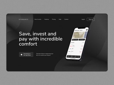 UI/UX design: the main page of the online banking website home page main page dashboard web design financial app fintech finance banking app wallet credit card banking card user experience user interface personal finance banking website product page