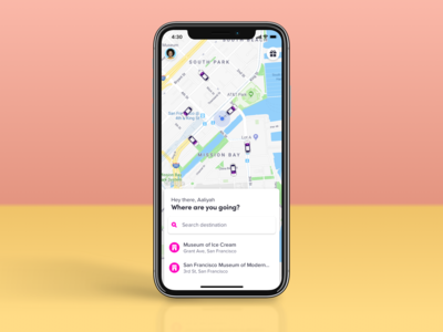 Lyft passenger app