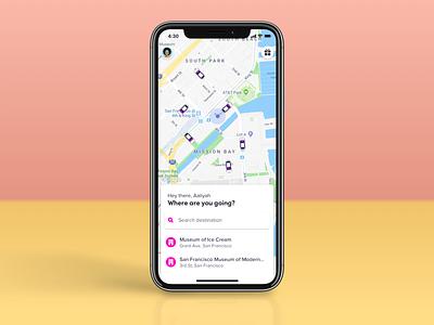 Lyft passenger app rideshare lyft product design ux ui