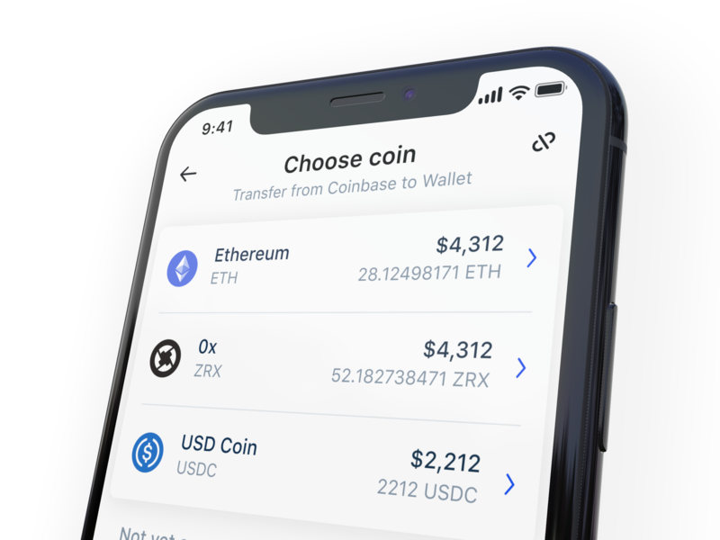 Connecting Coinbase to Wallet ux ui crypto currency product design crypto