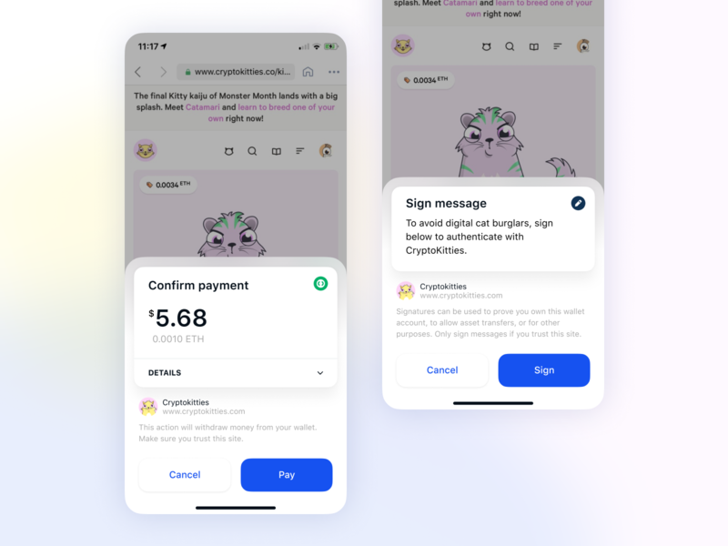 Transaction Confirmation sketches for Wallet coinbase product design crypto currency ux crypto ui