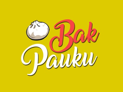 Bakpauku - Meatbun Restaurant flat branding logo design
