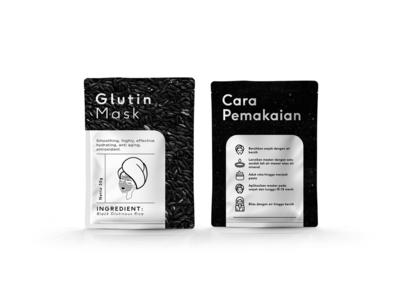 Glutin Mask - Black minimal packaging design branding