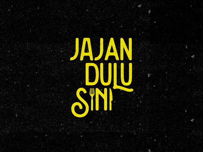 Jajan Dulu Sini - Foodmarket typography design logo branding