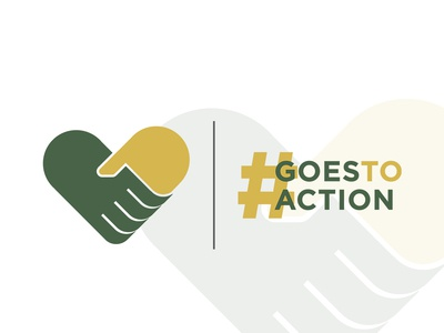 #GoesToAction - Charity Campaign action goestoaction helping campaign campaign design charity logo flat branding design