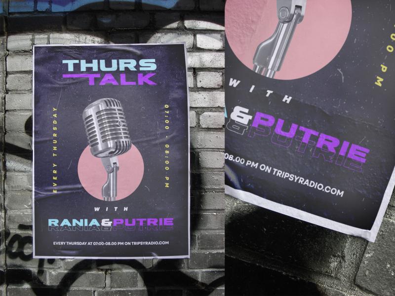 Thurs-talk | Radio talk radio poster aesthetic logo branding design