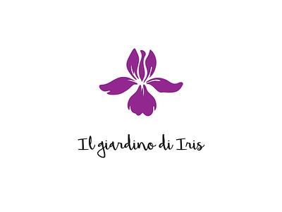 Iris Garden garden logo flower iris