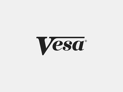 Vesa logo construction company monogram