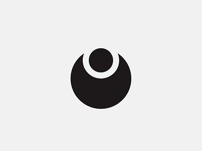 Angel minimalist circle devil logo angel