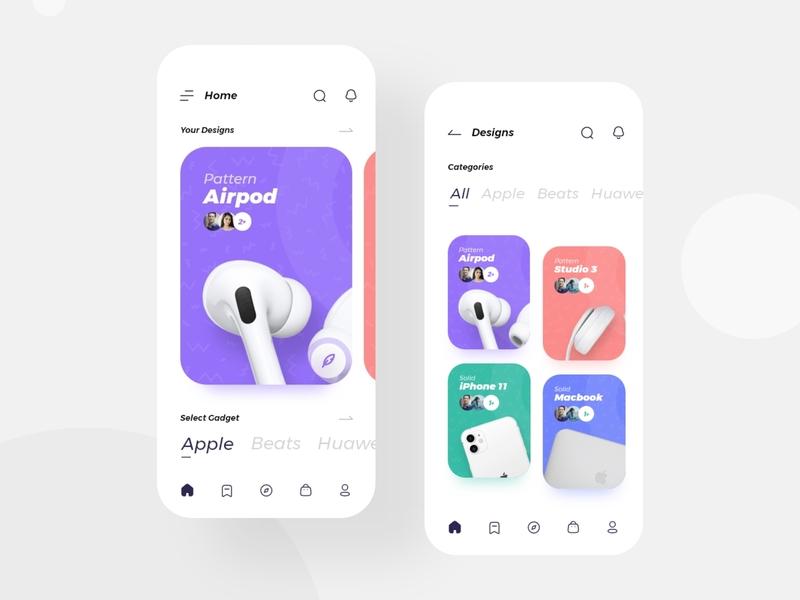 Case Craft App Concept e-commerce clean brand minimal flat design mobile ux ui app