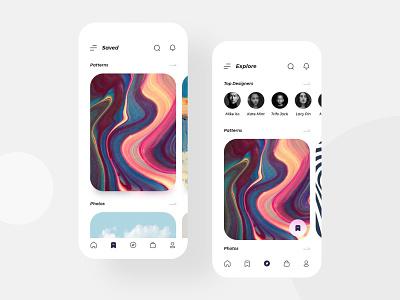 Case Craft App Concept - 2 iconography pattern photo minimal design e-commerce mobile ux ui app