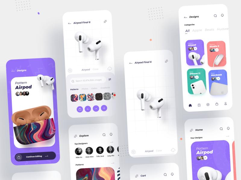 CaseCraft Ui Kit iconography flat clean brand ux ui mobile minimal design app