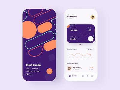 Wallet App Design e-commerce mobile iconography brand app clean ux ui minimal design