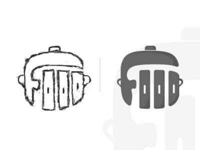 Food Logo Sketch & Design pencil pen cup pot food black logo sketch