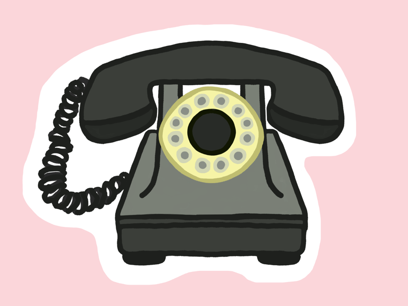 Rotary phone (19/100 days) procreate 100dayschallenge 100daysproject