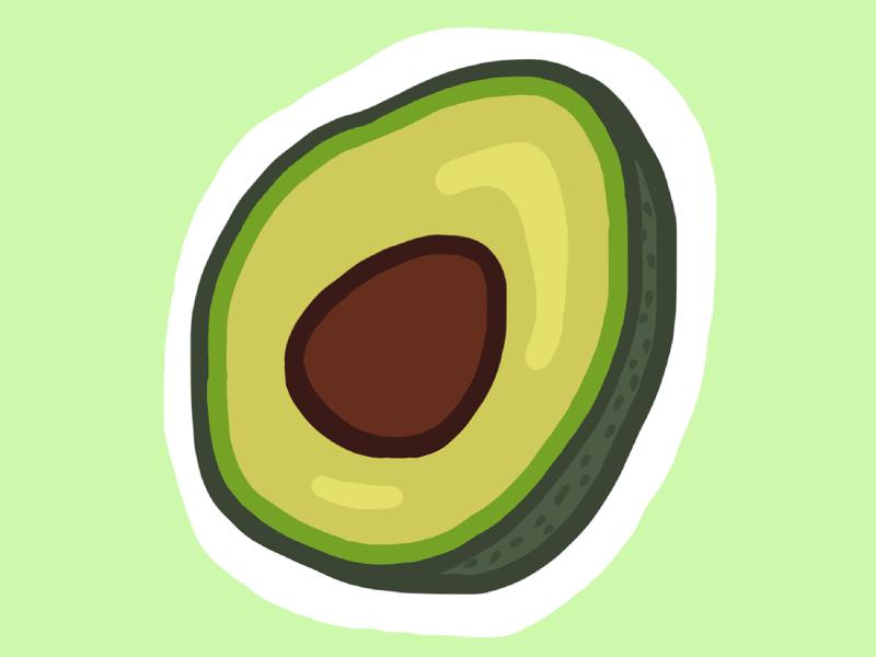 Avocado (25/100 days) illustration procreate 100dayschallenge 100daysproject