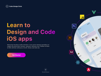 Landing Page for a Code&Design Learning Website