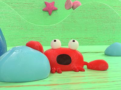 Crabby Day render maya 3d crab