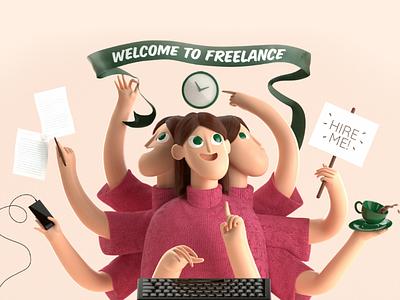 I'm Freelance octane multitask render c4d 3d freelance