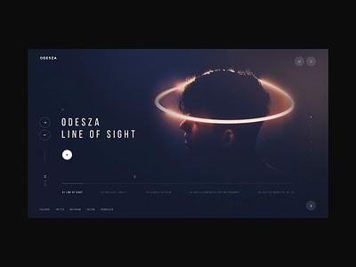 Odesza Redesign Concept efirmedia motion animation website creative web minimal design clean ui