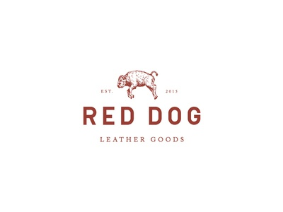 Red Dog Leather Goods Logo