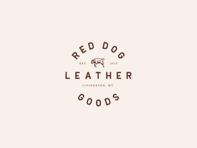 Red Dog Leather Goods Logo Variation