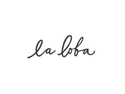 La Loba Swimwear Logo Variation
