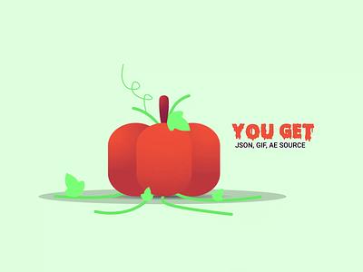 Spooky Pumpkin | SVG Animation | scary character motion graphics 2d svg json illustration das asim pumpkin halloween spooky animation