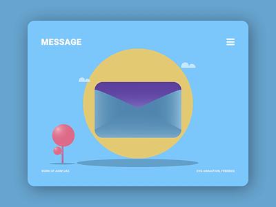 Message | SVG | Animation | Freebie new inbox message json das asim lottie freebies freebie free svg illustration design motion graphics 2d animation ui