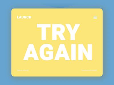 Launch | Try Again | SVG Animation | Freebie day each download png gif json lottie svg freebie illustration free design 2d das asim branding motion graphics graphic design ui animation