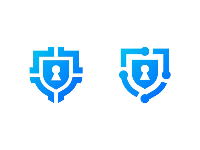 Cyber Security - Logo exploration lock sheild cyber cybersecurity security logo security vector icon logo design logotype design minimal logodesign mark logo