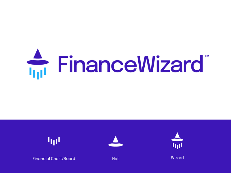 Finance Wizard - Logo design vector finance chart mark logo design chart minimal logotype finance finance logo design wizard logodesign logo