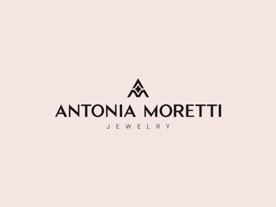 Antonia Moretti - Logo design shine jewellery logotype logodesign am luxury logo elegant monogram jewelry minimal logo