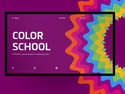Daily design - ColorSchool webdesign UI/UX