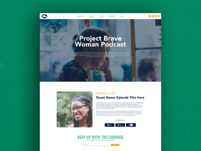 Project Brave Woman Website: Podcast Page