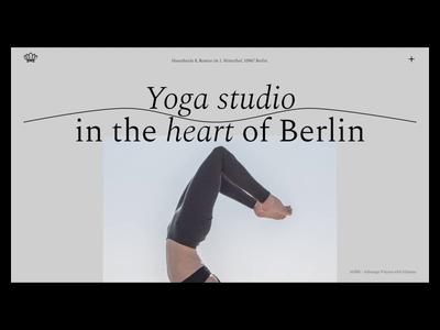 Yoga Berlin Homepage animation design website typography animation design minimal flat photography yoga animation web ui