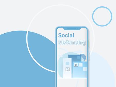 COVID-19 - Social Distancing socialdistancing figmadesign uplabs figma flatdesign minimal typography design illustration social distancing coronavirus covid covid-19