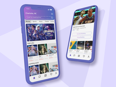 Ticket Booking App Concept dribble shot dribble best shot application ui apple booking app movie app ticket booking ticket app userinterface user experience android 2020 design ux google 2020 trends ui logo minimal figma design