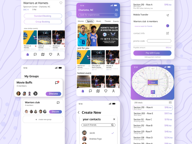 Event Booking Concept uidesign user experience product design google ux 2020 trends ui uplabs minimal figma design