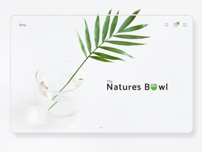 eCommerce- The Natures Bowl organic food ecommerce design ecommerce shop brand design template design typo branding ui 2020 trends uplabs figma design