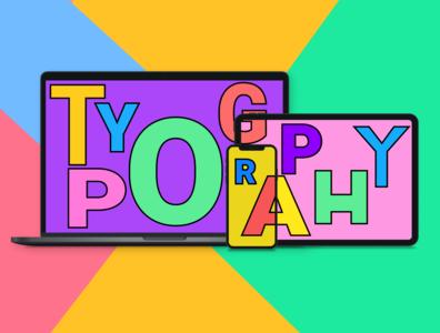 Typography - Responsive Web Design dribbble best shot figmadesign deisgn illustraion typeface responsive web design typography