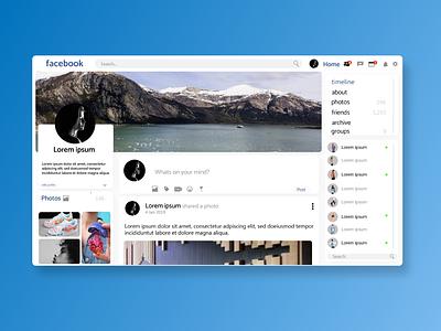 Facebook  Redesign design web ui uplabs