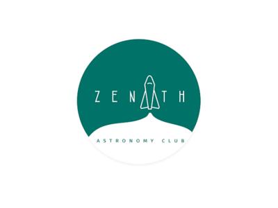 astronomy club logo minimal illustration design branding logo