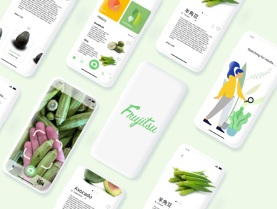 Mobile App Concept-Frujitsu user research user interface product design figma icon app uplabs design minimal ux ui