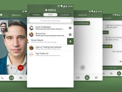 Business Messenger Chat UI android app networking ui chat messenger business
