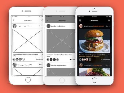 Foodie Social Network concept app enthusiasts network social food